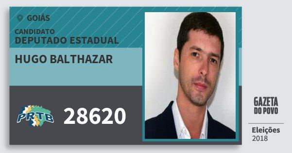 Santinho Hugo Balthazar 28620 (PRTB) Deputado Estadual | Goiás | Eleições 2018