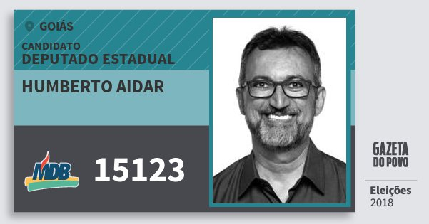 Santinho Humberto Aidar 15123 (MDB) Deputado Estadual | Goiás | Eleições 2018