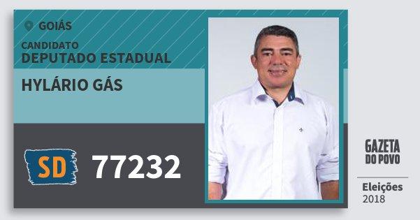 Santinho Hylário Gás 77232 (SOLIDARIEDADE) Deputado Estadual | Goiás | Eleições 2018