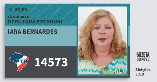 Santinho Iara Bernardes 14573 (PTB) Deputada Estadual | Goiás | Eleições 2018