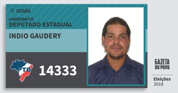 Santinho Indio Gaudery 14333 (PTB) Deputado Estadual | Goiás | Eleições 2018