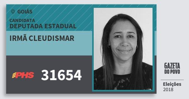 Santinho Irmã Cleudismar 31654 (PHS) Deputada Estadual | Goiás | Eleições 2018
