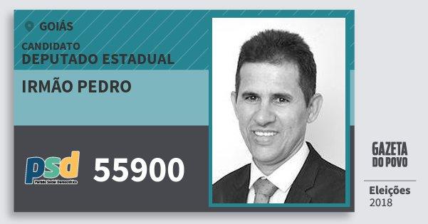 Santinho Irmão Pedro 55900 (PSD) Deputado Estadual | Goiás | Eleições 2018