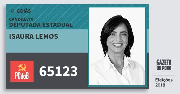 Santinho Isaura Lemos 65123 (PC do B) Deputada Estadual   Goiás   Eleições 2018
