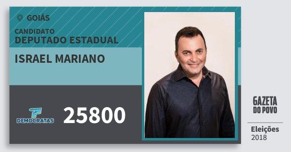 Santinho Israel Mariano 25800 (DEM) Deputado Estadual | Goiás | Eleições 2018