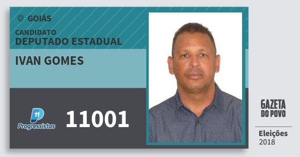 Santinho Ivan Gomes 11001 (PP) Deputado Estadual | Goiás | Eleições 2018