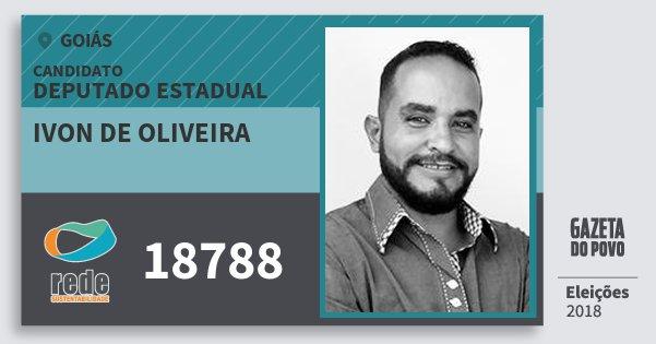Santinho Ivon de Oliveira 18788 (REDE) Deputado Estadual | Goiás | Eleições 2018