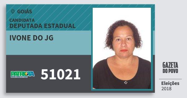 Santinho Ivone do Jg 51021 (PATRI) Deputada Estadual | Goiás | Eleições 2018