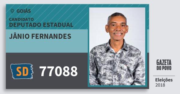 Santinho Jânio Fernandes 77088 (SOLIDARIEDADE) Deputado Estadual | Goiás | Eleições 2018