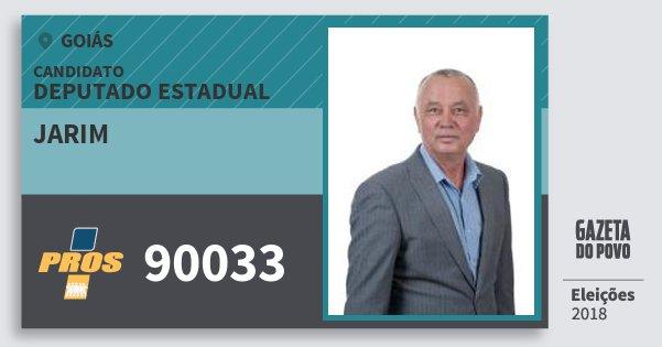Santinho Jarim 90033 (PROS) Deputado Estadual | Goiás | Eleições 2018