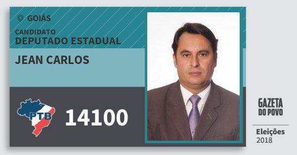 Santinho Jean Carlos 14100 (PTB) Deputado Estadual   Goiás   Eleições 2018