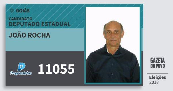 Santinho João Rocha 11055 (PP) Deputado Estadual | Goiás | Eleições 2018