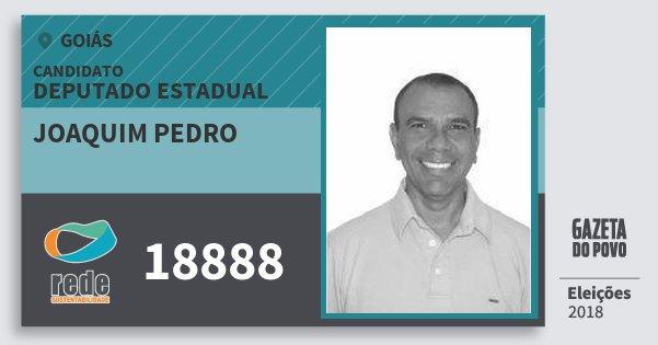 Santinho Joaquim Pedro 18888 (REDE) Deputado Estadual | Goiás | Eleições 2018