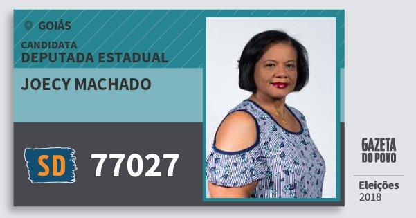 Santinho Joecy Machado 77027 (SOLIDARIEDADE) Deputada Estadual | Goiás | Eleições 2018