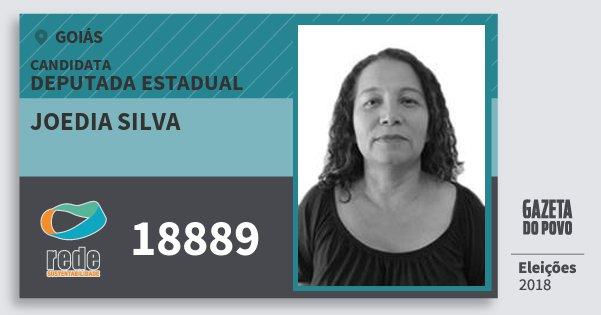 Santinho Joedia Silva 18889 (REDE) Deputada Estadual | Goiás | Eleições 2018