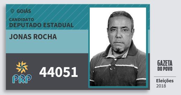 Santinho Jonas Rocha 44051 (PRP) Deputado Estadual | Goiás | Eleições 2018
