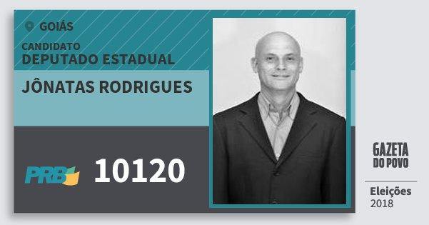 Santinho Jônatas Rodrigues 10120 (PRB) Deputado Estadual | Goiás | Eleições 2018