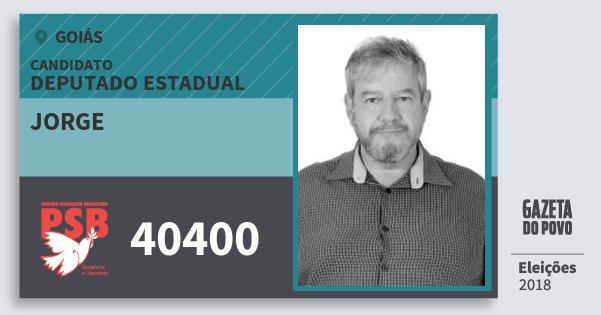 Santinho Jorge 40400 (PSB) Deputado Estadual | Goiás | Eleições 2018