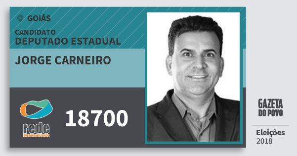 Santinho Jorge Carneiro 18700 (REDE) Deputado Estadual | Goiás | Eleições 2018