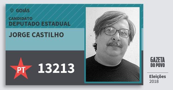 Santinho Jorge Castilho 13213 (PT) Deputado Estadual | Goiás | Eleições 2018