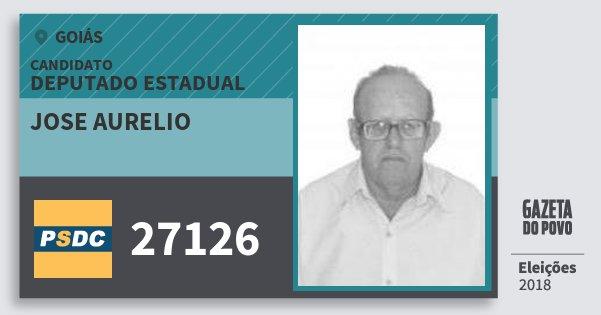 Santinho Jose Aurelio 27126 (DC) Deputado Estadual | Goiás | Eleições 2018