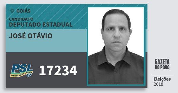 Santinho José Otávio 17234 (PSL) Deputado Estadual | Goiás | Eleições 2018