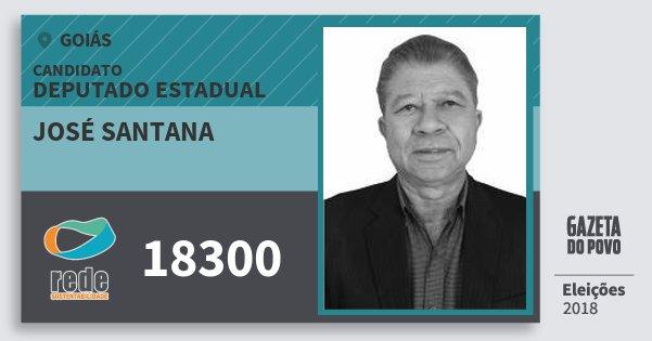 Santinho José Santana 18300 (REDE) Deputado Estadual   Goiás   Eleições 2018