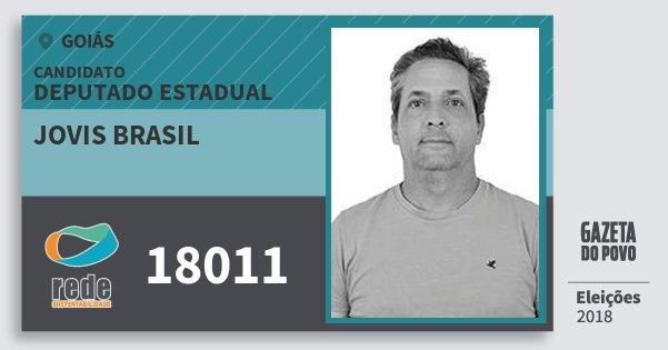 Santinho Jovis Brasil 18011 (REDE) Deputado Estadual | Goiás | Eleições 2018