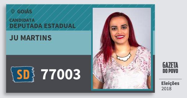 Santinho Ju Martins 77003 (SOLIDARIEDADE) Deputada Estadual | Goiás | Eleições 2018