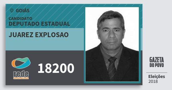 Santinho Juarez Explosao 18200 (REDE) Deputado Estadual | Goiás | Eleições 2018