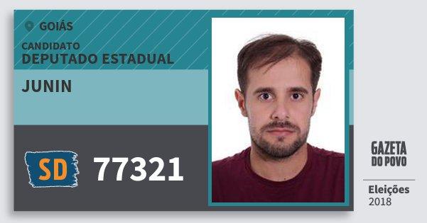 Santinho Junin 77321 (SOLIDARIEDADE) Deputado Estadual | Goiás | Eleições 2018