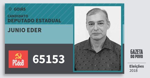 Santinho Junio Eder 65153 (PC do B) Deputado Estadual | Goiás | Eleições 2018