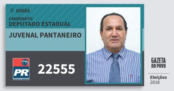 Santinho Juvenal Pantaneiro 22555 (PR) Deputado Estadual | Goiás | Eleições 2018