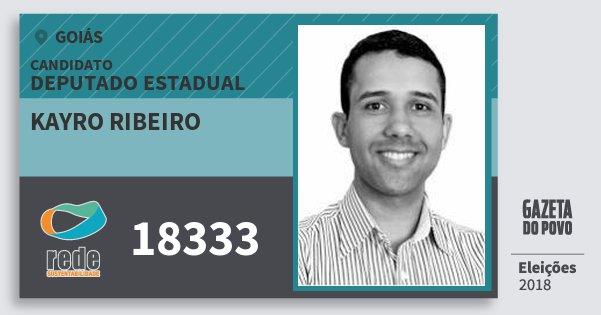 Santinho Kayro Ribeiro 18333 (REDE) Deputado Estadual | Goiás | Eleições 2018