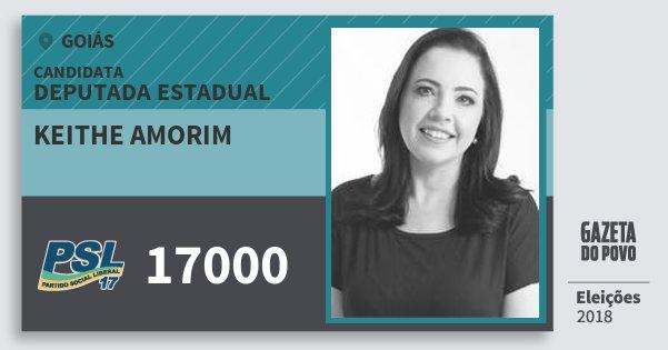 Santinho Keithe Amorim 17000 (PSL) Deputada Estadual | Goiás | Eleições 2018