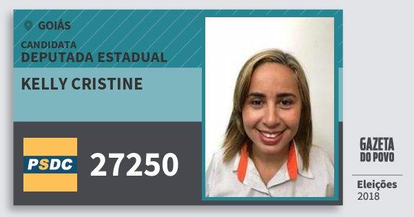 Santinho Kelly Cristine 27250 (DC) Deputada Estadual | Goiás | Eleições 2018