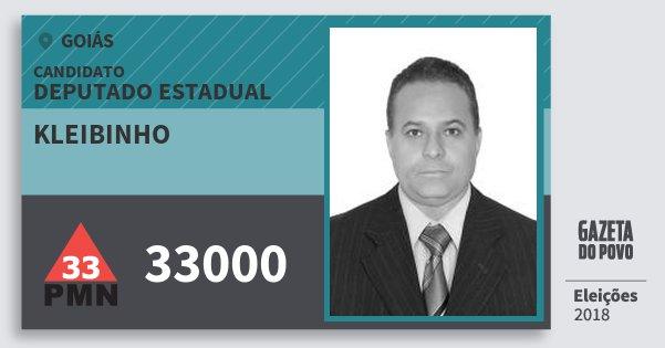 Santinho Kleibinho 33000 (PMN) Deputado Estadual | Goiás | Eleições 2018