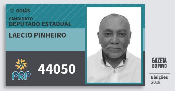 Santinho Laecio Pinheiro 44050 (PRP) Deputado Estadual | Goiás | Eleições 2018
