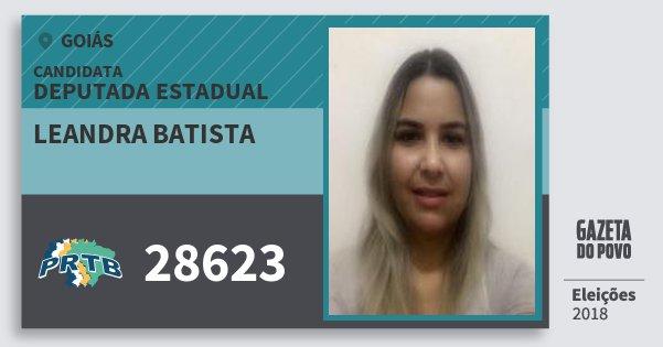 Santinho Leandra Batista 28623 (PRTB) Deputada Estadual | Goiás | Eleições 2018