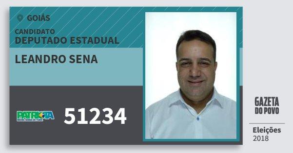 Santinho Leandro Sena 51234 (PATRI) Deputado Estadual | Goiás | Eleições 2018