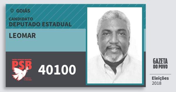 Santinho Leomar 40100 (PSB) Deputado Estadual | Goiás | Eleições 2018