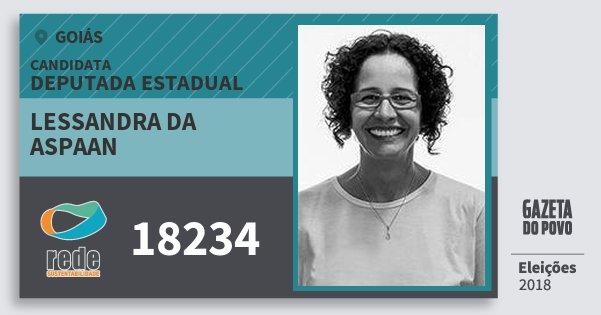 Santinho Lessandra da Aspaan 18234 (REDE) Deputada Estadual | Goiás | Eleições 2018