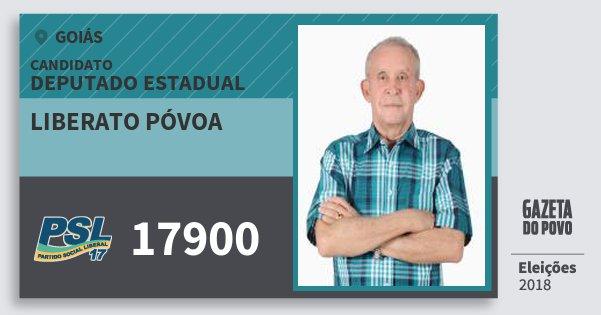 Santinho Liberato Póvoa 17900 (PSL) Deputado Estadual | Goiás | Eleições 2018
