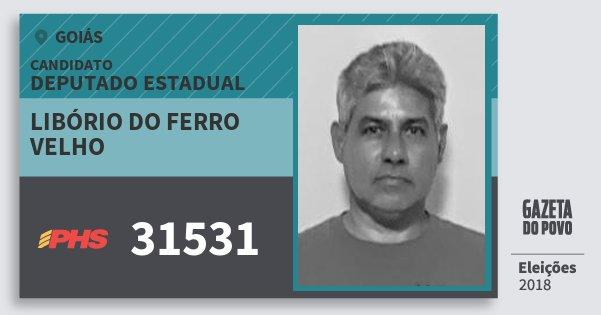 Santinho Libório do Ferro Velho 31531 (PHS) Deputado Estadual | Goiás | Eleições 2018