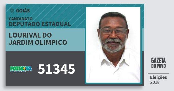 Santinho Lourival do Jardim Olimpico 51345 (PATRI) Deputado Estadual | Goiás | Eleições 2018