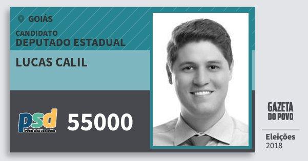Santinho Lucas Calil 55000 (PSD) Deputado Estadual | Goiás | Eleições 2018
