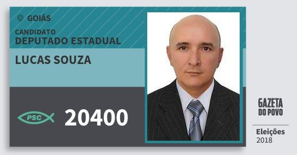 Santinho Lucas Souza 20400 (PSC) Deputado Estadual | Goiás | Eleições 2018