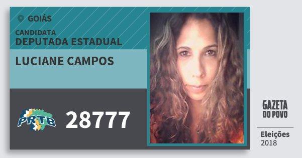Santinho Luciane Campos 28777 (PRTB) Deputada Estadual | Goiás | Eleições 2018