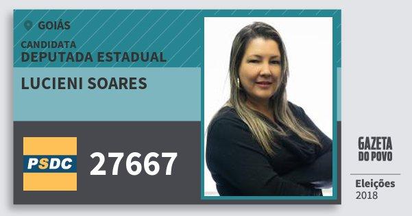 Santinho Lucieni Soares 27667 (DC) Deputada Estadual | Goiás | Eleições 2018