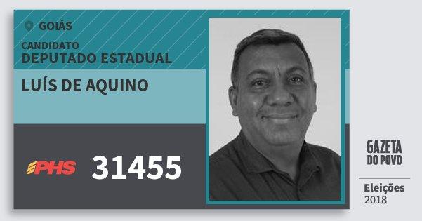 Santinho Luís de Aquino 31455 (PHS) Deputado Estadual | Goiás | Eleições 2018